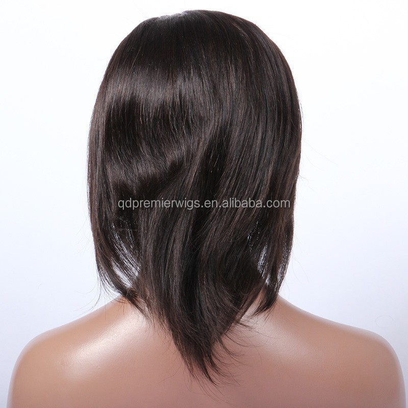 short hair brazilian human hair full lace wig natural cheap