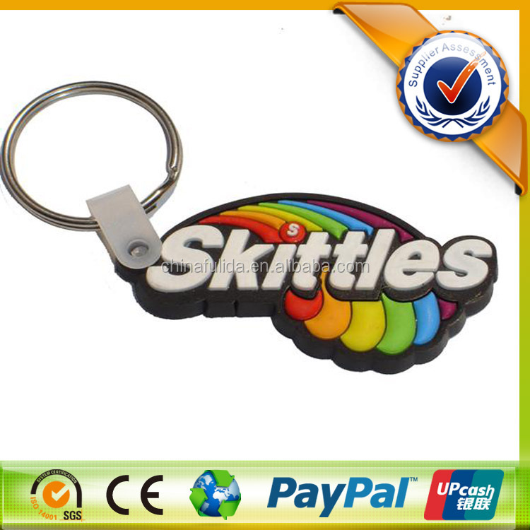2d custom shaped soft pvc keychain/3D promotional soft pvc keychain,rubber keyring