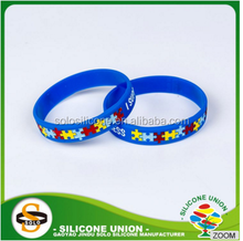Debossed with ink filled(single color filled) silicone wristbands for sports/party
