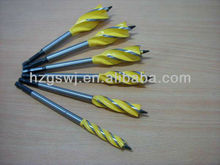 yellow painted quad drill bit wood cutting tool