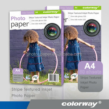 Cast Coated Glossy Inkjet Photo Paper 130g/m2 / A4 / A6 / 4R