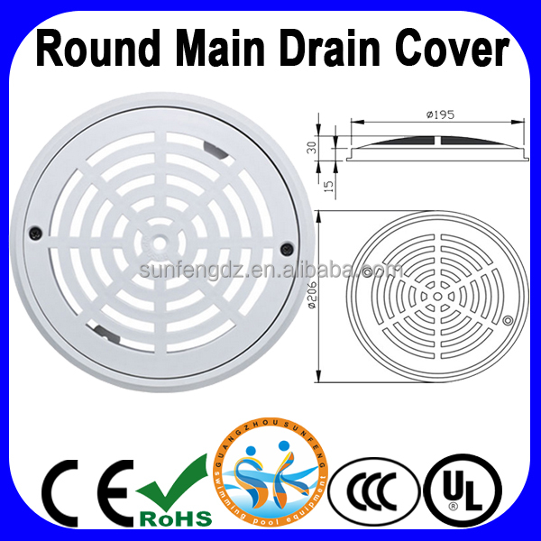 Swimming pool main drain cover abs main drainage buy - Swimming pool main drain cover replacement ...