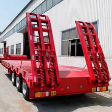 Famous HYD Brand Tri-axle Low Flat Bed Trailer In Truck Semi Trailer Or Semi-trailer Truck From China Manufacturer