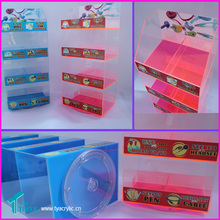 Perspex Roating Customized Design For Mobile Phone Accessories Display Rack, Cell Phone wire Case Counter