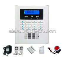 LCD home wireless gsm alarm with gsm network wireless