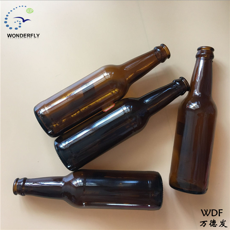 welcome to purchase empty 355 ML long neck glass bottle brown factory quality suitable for 26mm mouth