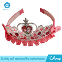 Frozen anna Heradwearhairband kids tiara and crown with pink ribbon for girl