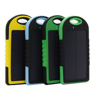 Solar power high Quality Wireless 5000mAh Waterproof Solar Charger Bank
