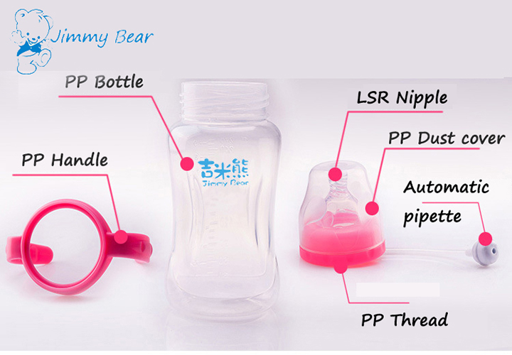 Hot selling 180ML plastic baby bottle manufacturer