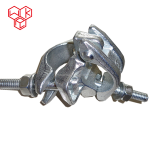 WRK Forged Joint Half Putlog Swivel Sleeve Scaffolding Double Coupler Load Capacity for Construction Post Scaffold Pipe Fittings