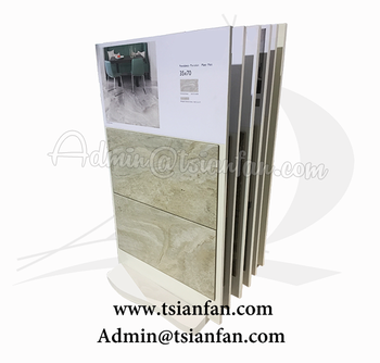 E078-Marble Stone Tile Display Stand Tower With Sample Board