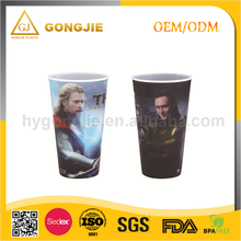 GJ-119, Taizhou,Gongjie, 2017 hot selling products, personalized kids plastic 32oz 3D Lenticular cups with straw Walmart