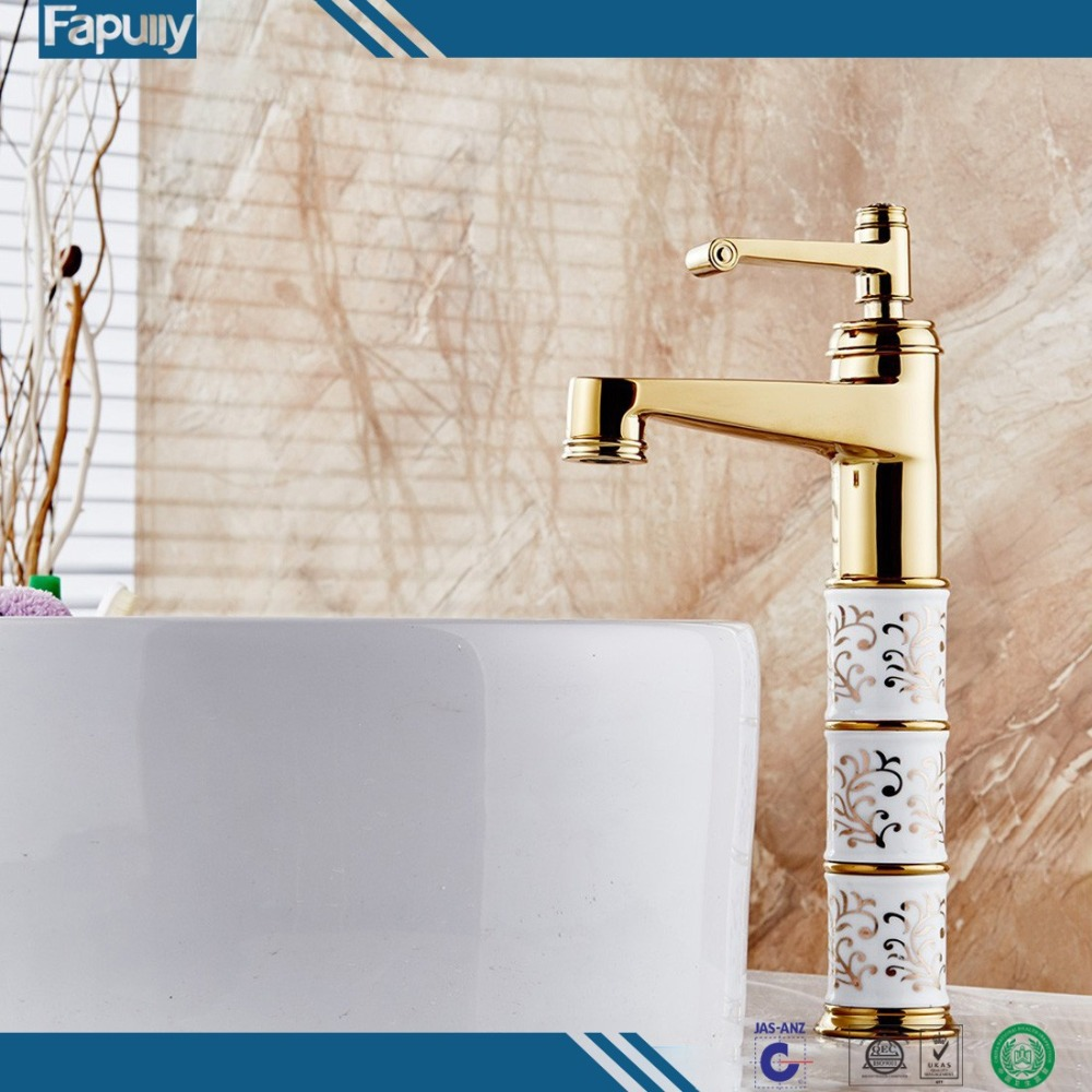 Fapully gold hot selling sink kran high quality bathroom Basin mixer musluk