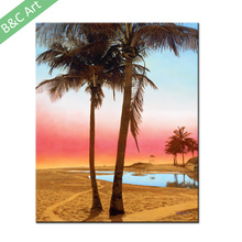 Modern Simple Natural Scenery Coconut Tree Art Painting