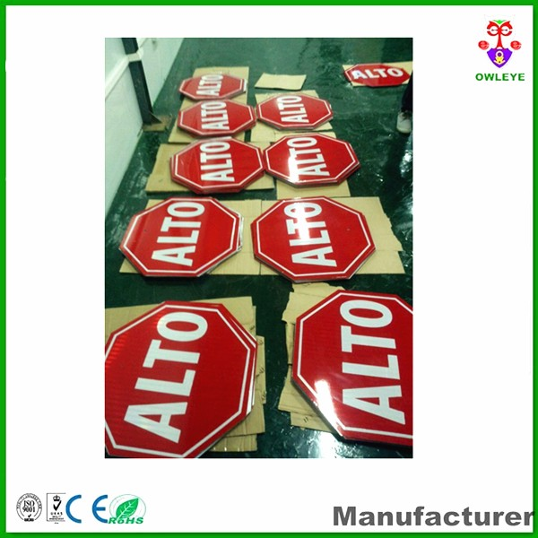 Customized and high bright traffic road reflective sign