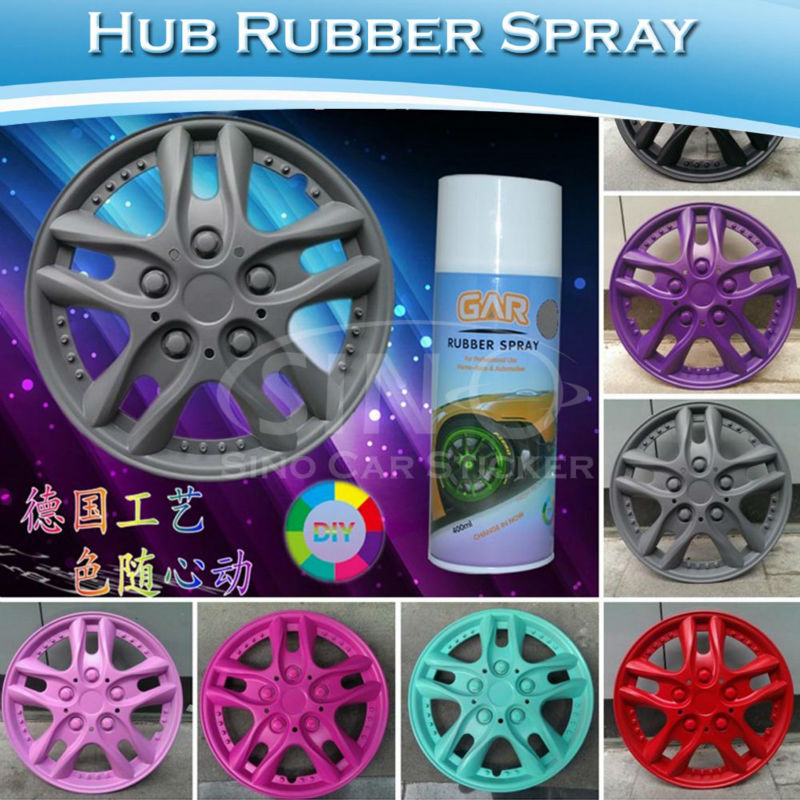 CARLIKE Fast Shipment Removable Rubber Spray Paint For Car Wheels