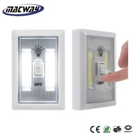 Super Bright COB Night Lamp LED Switch Light 4*AAA Battery Operated Emergency Light with Magnet
