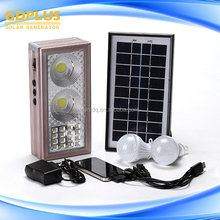 Small mini flexible solar panel with mobile phone charger and bulbs and led lights and charger cheap price solar energy