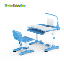 Everleader children bedroom set folding table desk and chair set with lamp