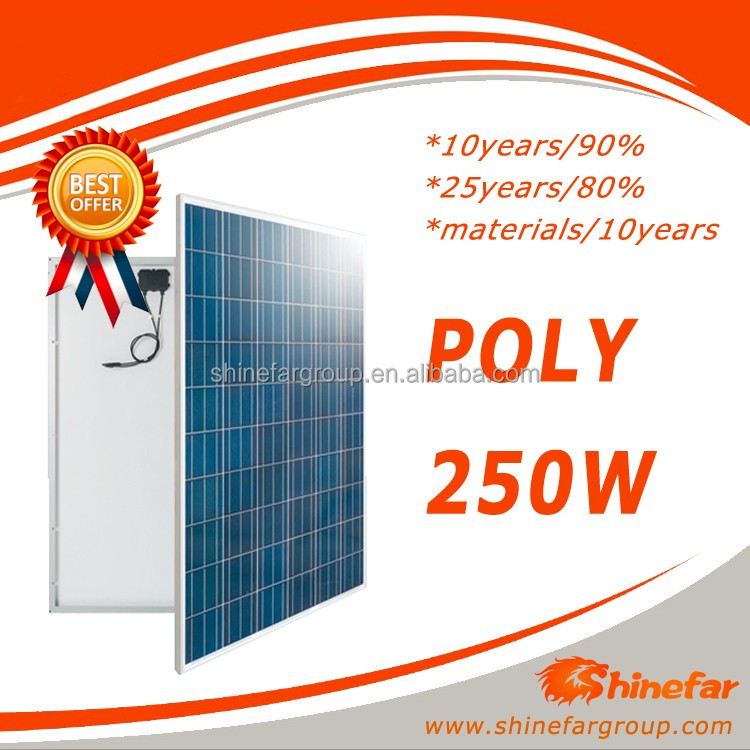 panel surya poly 250w for solar system 20kw