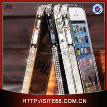 Cute bling diamonds cell phone case manufacturing for iphone 6