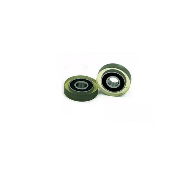 no noise polyurethane pulley  PU rubber coated  bearing  door and window 624 625 693 685 626 608  soft PU roller bearing