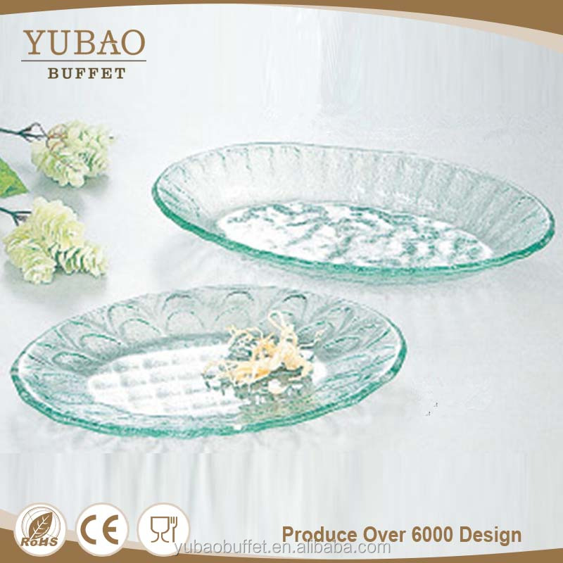 Banquet accessories cheap glass buffet plates, antique glass cake plates, shot glass holder tray