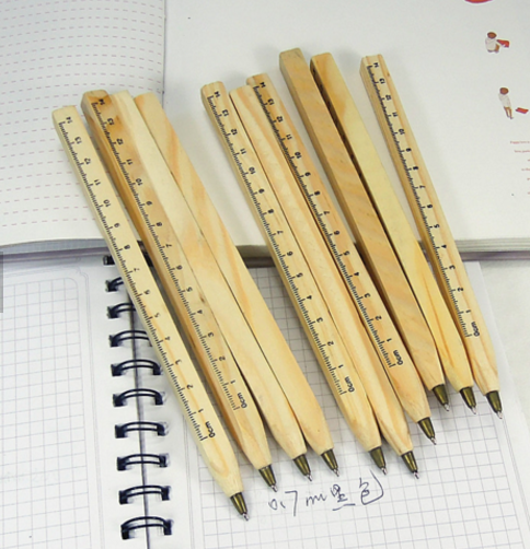wood ballpen with ruler