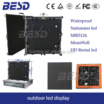 BESDLED Outdoor P3.91 P4.81 P5 P6 rental led screen,Outdoor video P6 rental led display panel