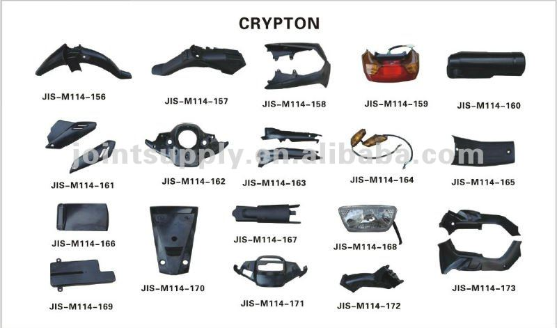 motorcycle plastic parts for CRYPTON