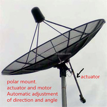 big satellite dish antenna 4.5m/450cm/16 feet c band satellite aluminum mesh dish paraboloid tv antenna