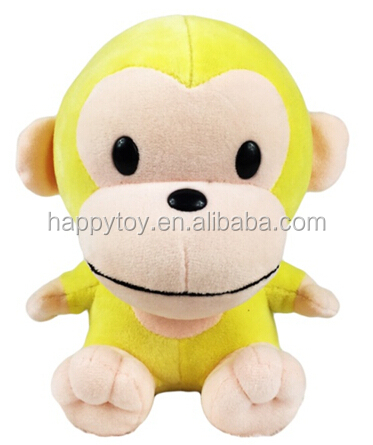 HI custom big mouth new year plush toy monkey