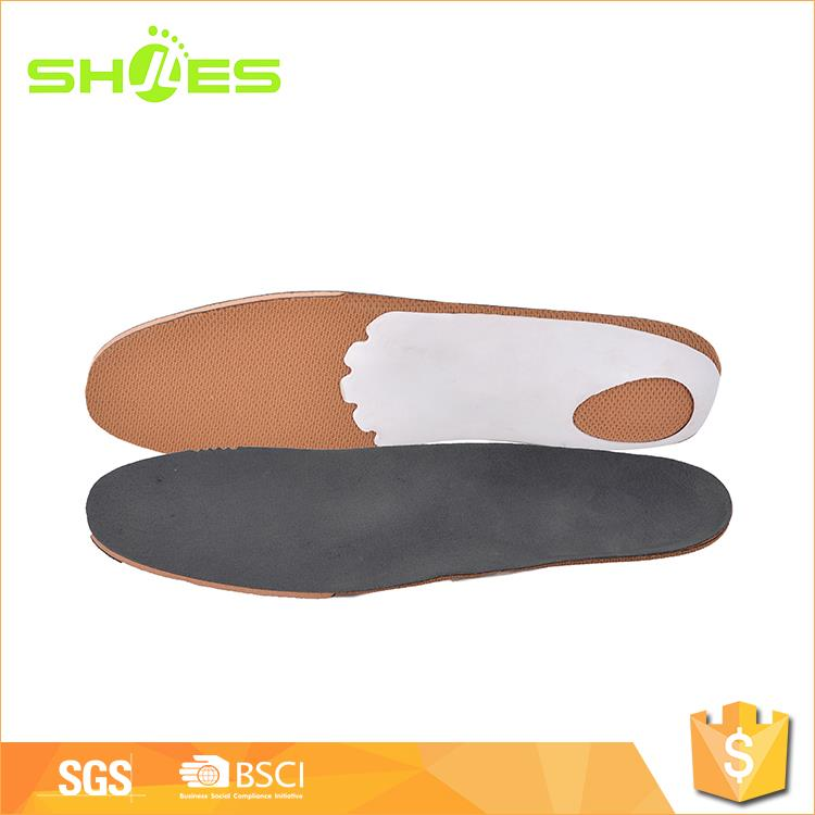 Custom size waterproof leather and PP shell shoe insole label