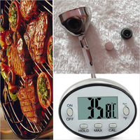 Waterproof household kitchen digital meat thermometer