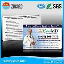 Full color printing promotional eco-friendly plastic business cards
