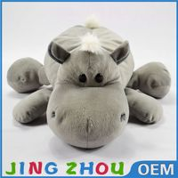 Super soft plush material toys grey stuffed pp cotton hippo doll for you