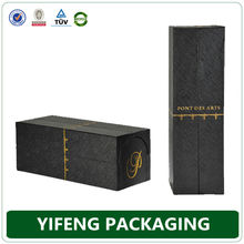 China supplier luxury drawer and folding wine leather box