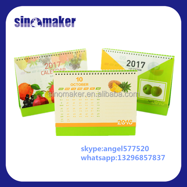 Custom printing design cheap office portable bulk desk calendar