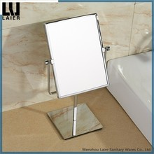 high quality 2-side tabletop rectangle magnifying mirror for makeup bathroom accessories