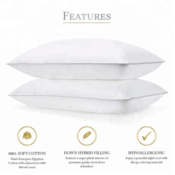 Luxury factory direct 50% down pillow with RDS Certified - Hypoallergenic -