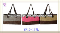 2013 new circle design elegant cheap shiny wheat straw bag