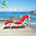 french curved chaise lounge / lounge chair