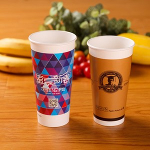 Customized disposable paper cup Vending pla printed coffee pp china logo disposable cup