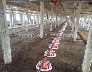 poultry controlled chicken feeder equipment for broiler with 14/16 grids feeding pan
