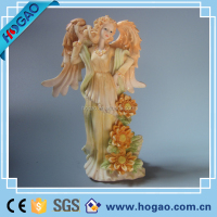 high quality custom flower angel fairy wings resin figurine for wedding decorations