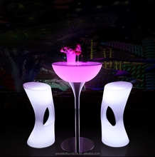Factory direct sale led light bar tables event portable cocktail table