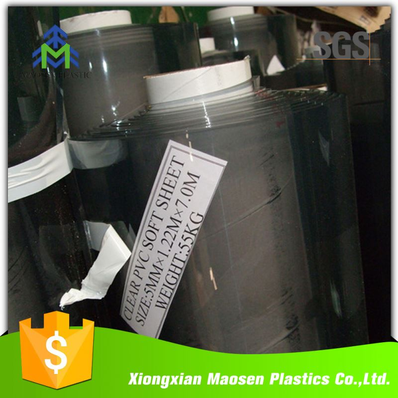 China Pvc Thin Soft Transparent Plastic Film