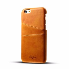 WinTop PU Leather Case Back Cover with Credit Card ID Holder for iPhone 7