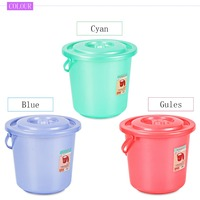 The cheap plastic buckets with lids with handle made in China,factory supply