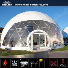 Customized glass door Party Geodesic Dome Tent for sale